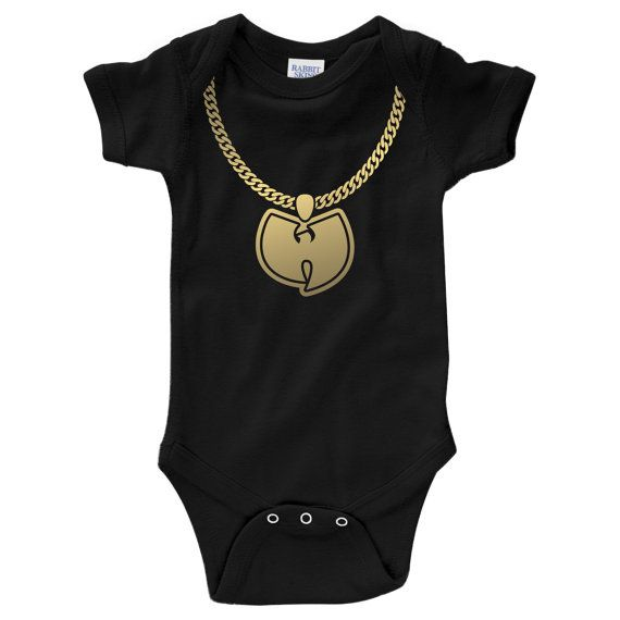 756276738 WuTang Gold Chain Onesie (NB - 24M) by ECKDesigns on Etsy, $15.95 ...