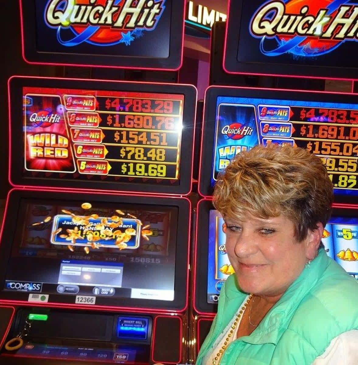 Congratulations to Bev who hit a 1508 jackpot on the Wild