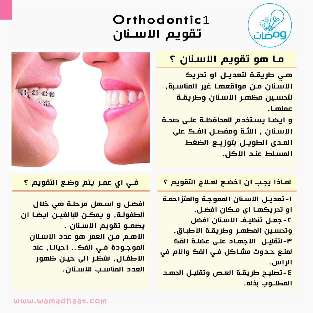 سلسلة تقويم الأسنان تبدأ من اليوم وهذه اول بطاقة نتمنى لكم كل الفائدة المصدر Www Dentalhealth Org المؤسسة البريطانية لصحة الاسنان Ra