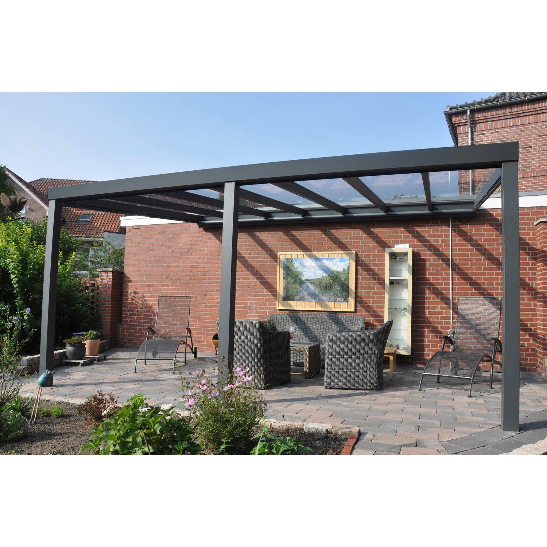 Terrassenuberdachung Struktur Anthrazit Vs Glas 500 X 300 Cm In