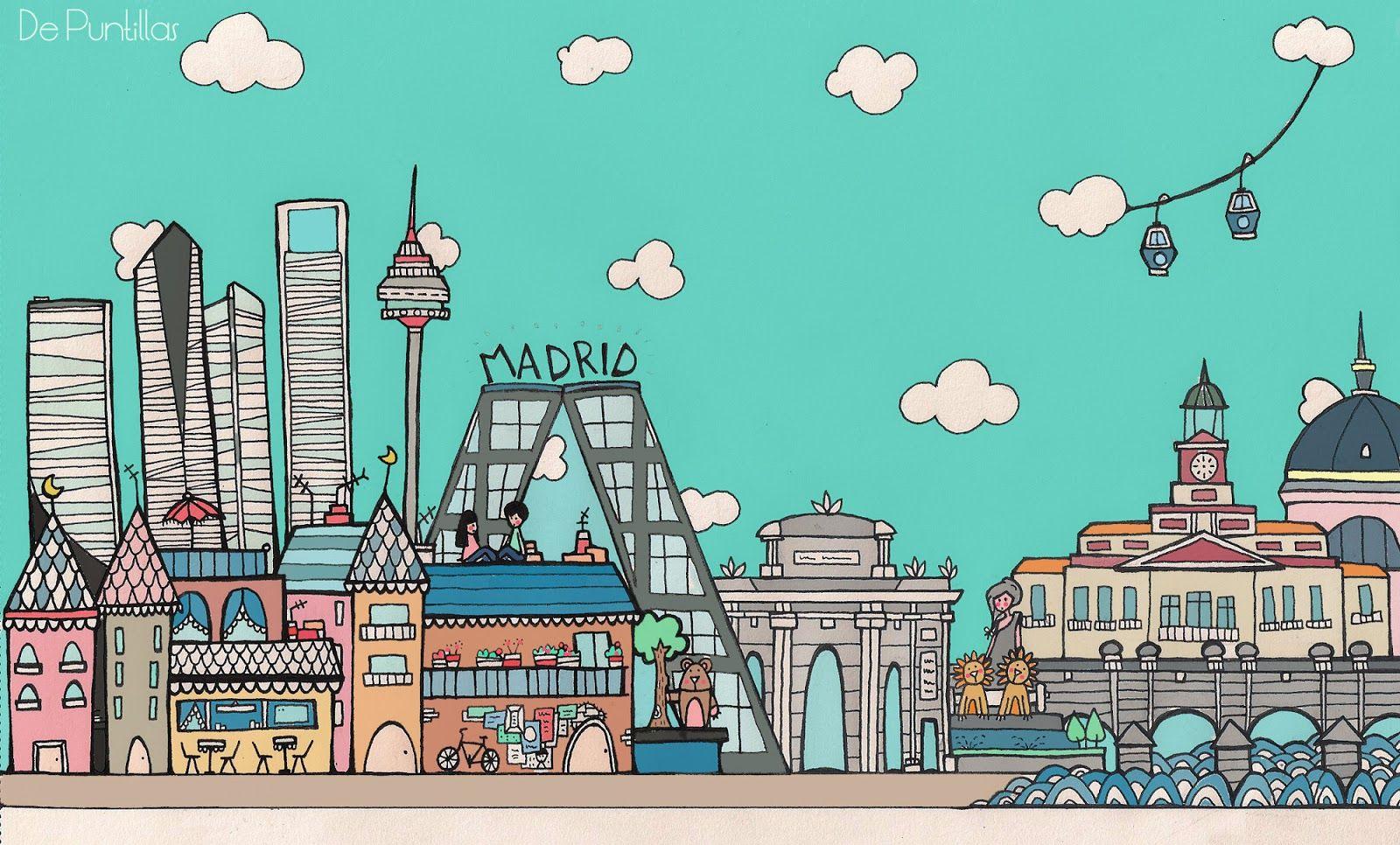 Skyline Madrileno Para Mi Petit Madrid Mapa Madrid Madrid Ciudad Skyline