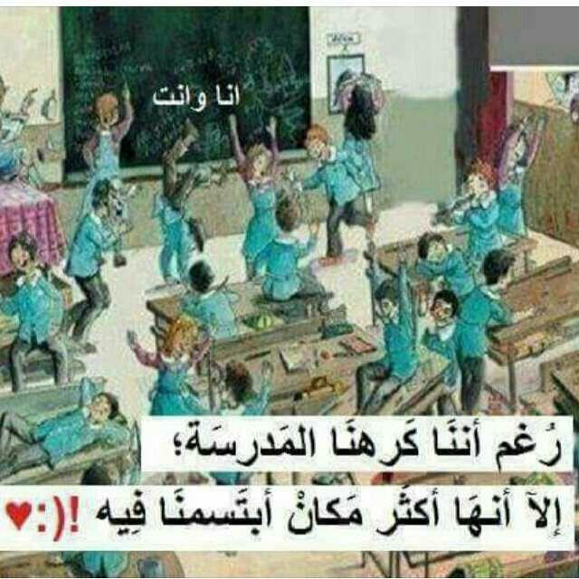 احلى حاجة فى حياتى أصدقاء المدرسة Funny Study Quotes Fun Quotes Funny Funny Arabic Quotes