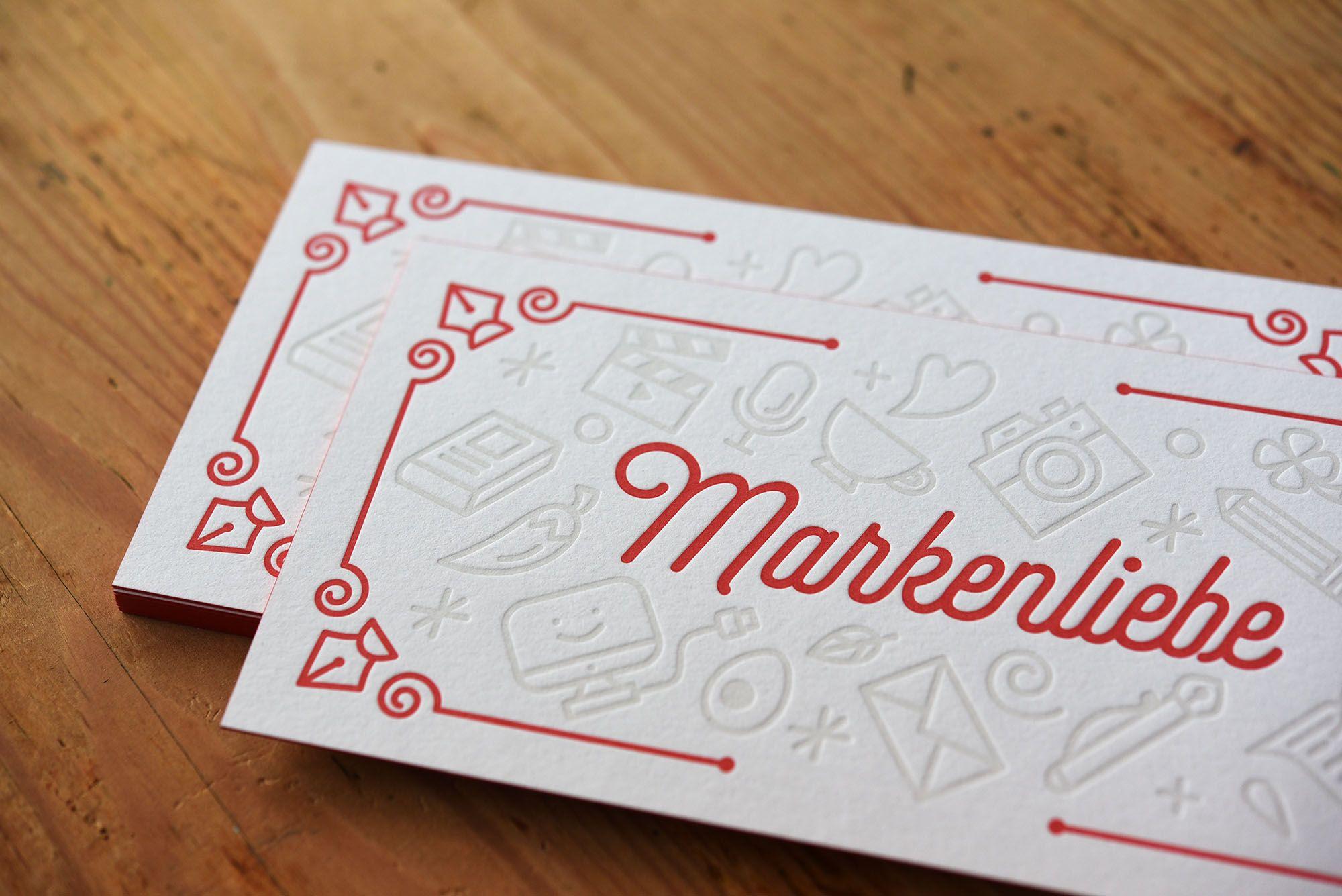 Drucktechnik Letterpress Papier Gmund Cotton Linen Cream