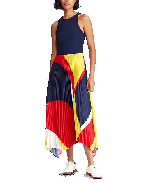 robe plissé ralph lauren