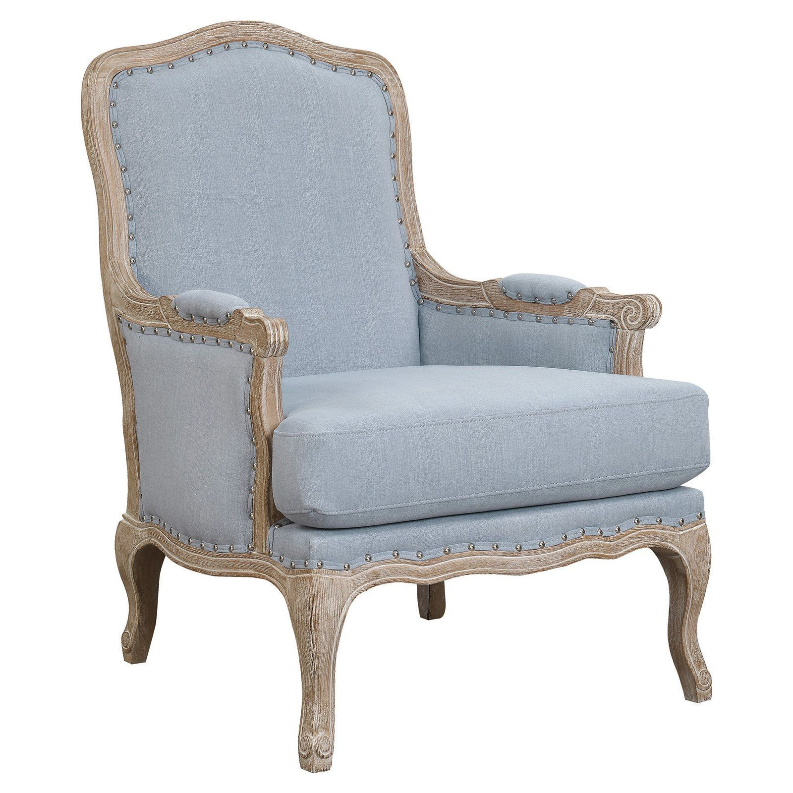 Picket House Furnishings Regal Arm Chair Light Blue Products In