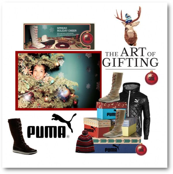 """""""The Art of Gifting with PUMA"""" by sherry7411 ❤ liked on Polyvore"""