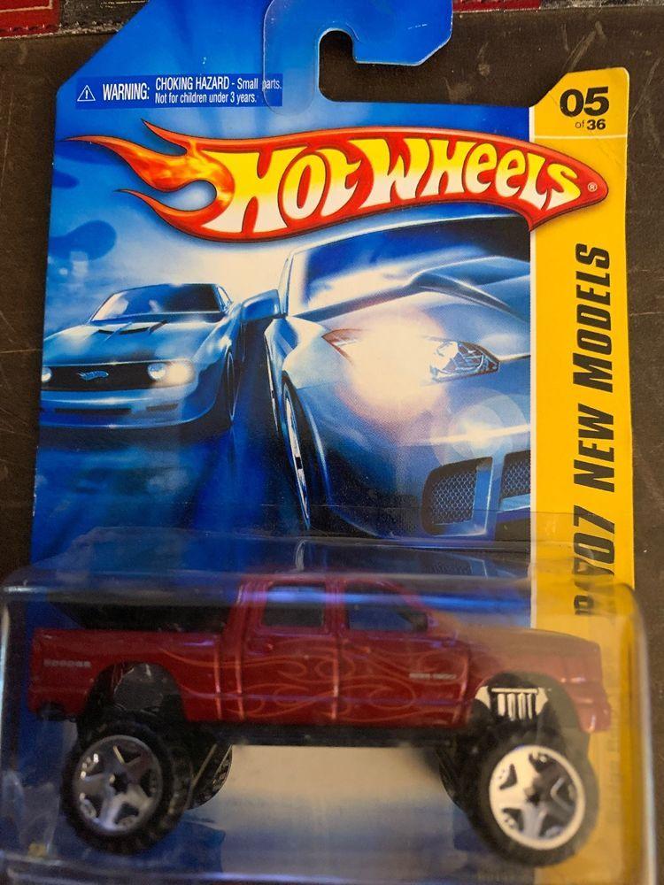 20o7 New Models Hot Wheels Dodge Ram 1500 Red Pickup Truck 4x4 Pickup Trucks Classic Pickup Trucks Lifted Chevy Trucks