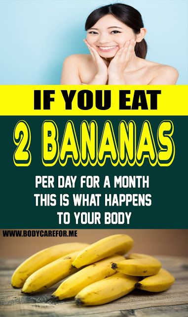 In the event that You Eat 2 Bananas Per Day For A