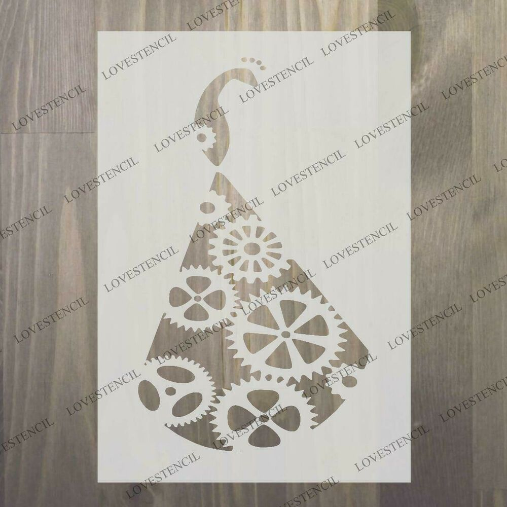 "steampunk mask stencil 3 craft,fabric,glass,furniture,wall art up to 33/"""