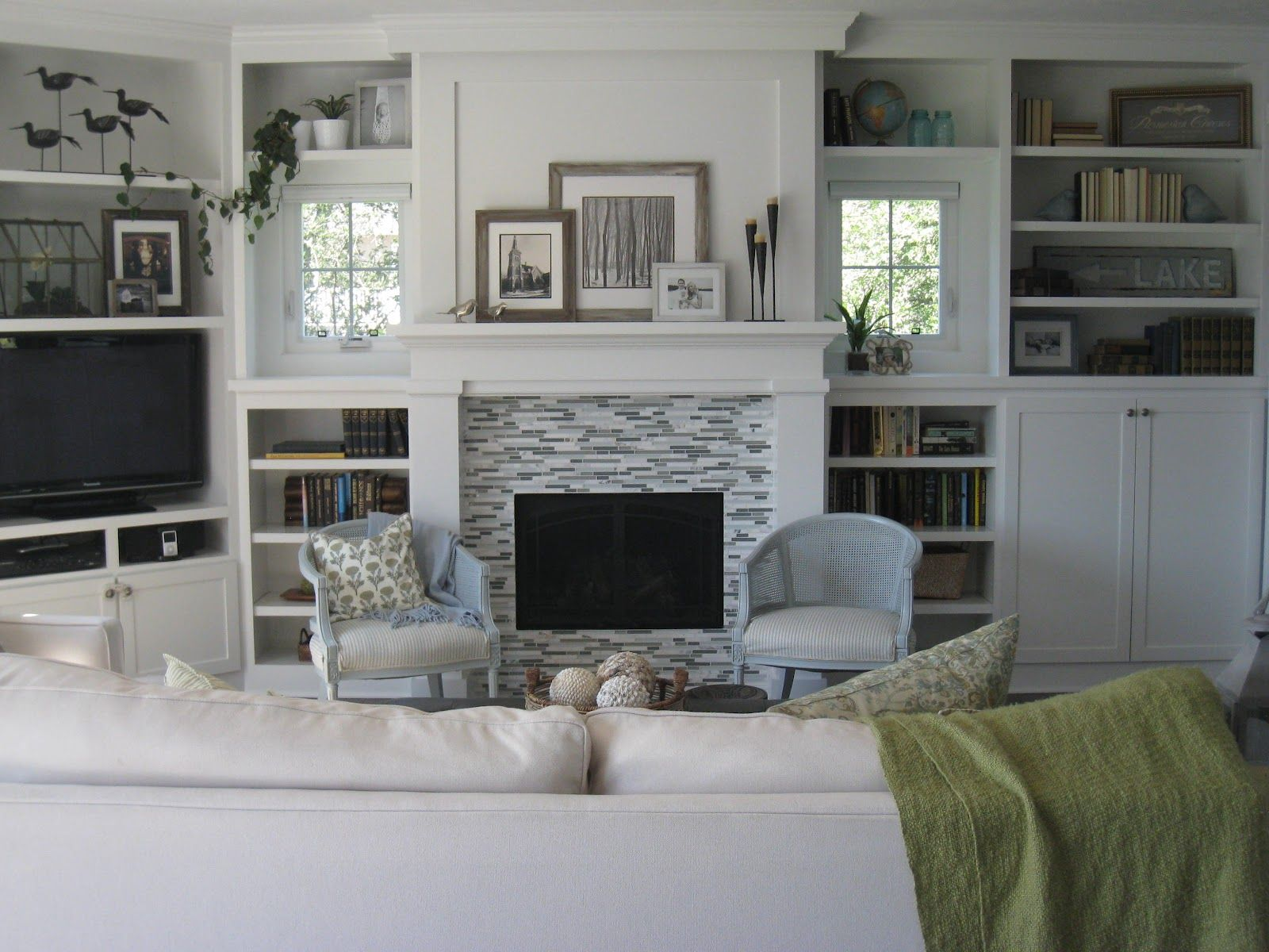 Living Room Built Ins Craftsmanstyle Fireplace With Builtins That Don't Have To Match
