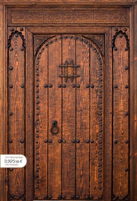 Puertas r sticas alpujarre as artesanos de la puerta r stica cat logo puertas doors Puertas de madera decoradas