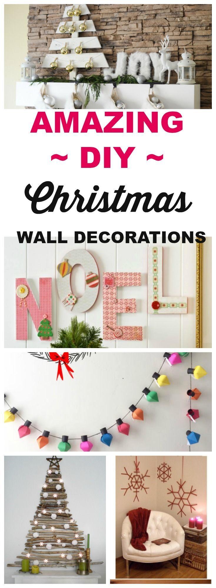 18 Christmas DIY Home Decor Wall Art Ideas   Empowering Bloggers ...
