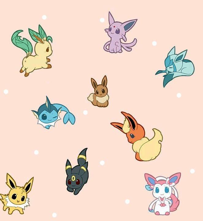 Chibi Eeveelutions | Pokemon, Chibi, Anime