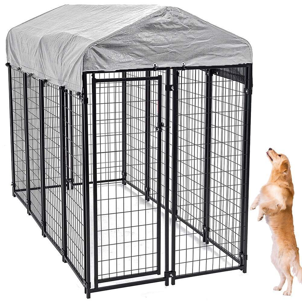 Good Free Large Dog Kennel Outdoor Extra Large Dog Crate Metal Welded Pet Cage Good Free Large In 2020 Extra Large Dog Crate Dog Kennel Outdoor Dog Kennel Cover
