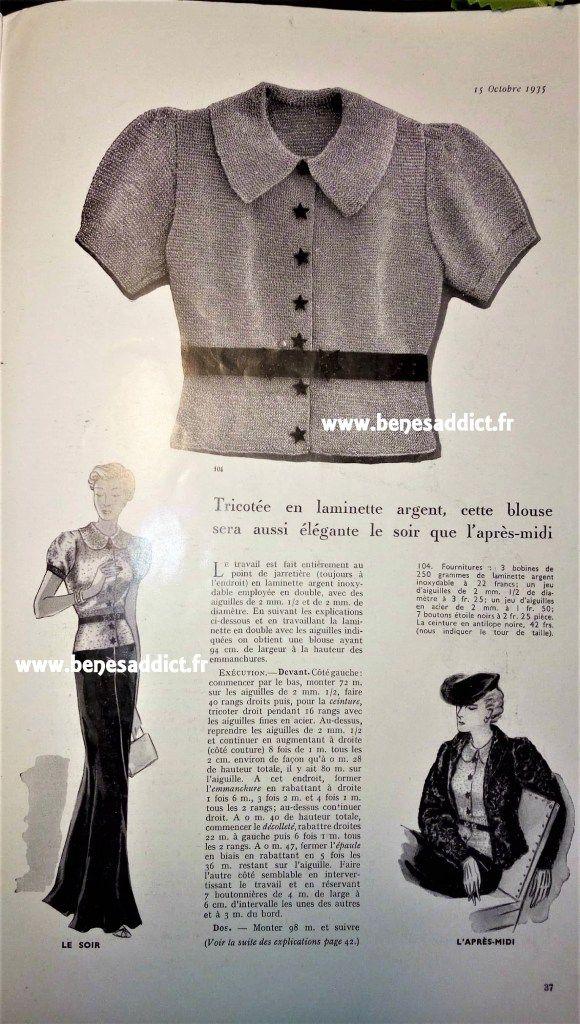 GRATUIT 34 patrons tricot/couture 1935/1939 Hommes, Femmes, Soldats ...