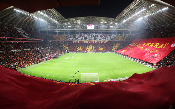 Download Wallpapers Turk Telekom Stadium Stadium Of Galatasaray Ali Sami Yen Spor Kompleksi Galatasaray Sk Football Stadium Istanbul Turkey Stands Modula In 2020 Football Stadiums Stadium Wallpaper Soccer Stadium
