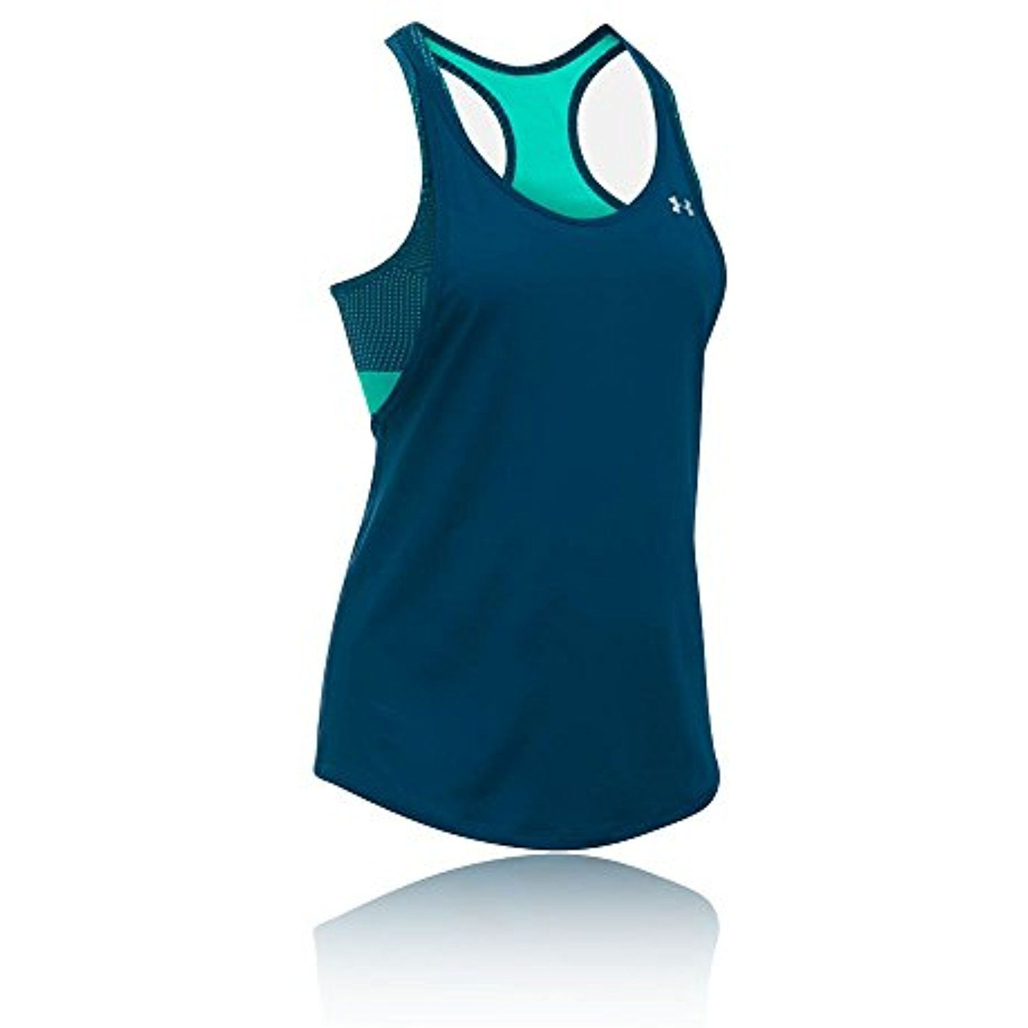 ba1e785eafa34 Under Armour Women s HeatGear Armour Printed 2-in-1 Tank -- Click image