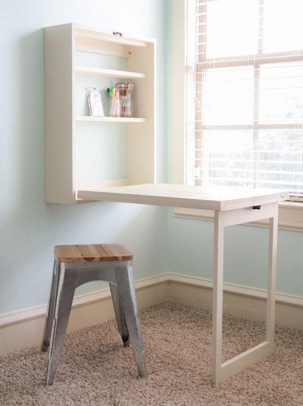 Como hacer una mesa plegable que no ocupa espacio Pinterest