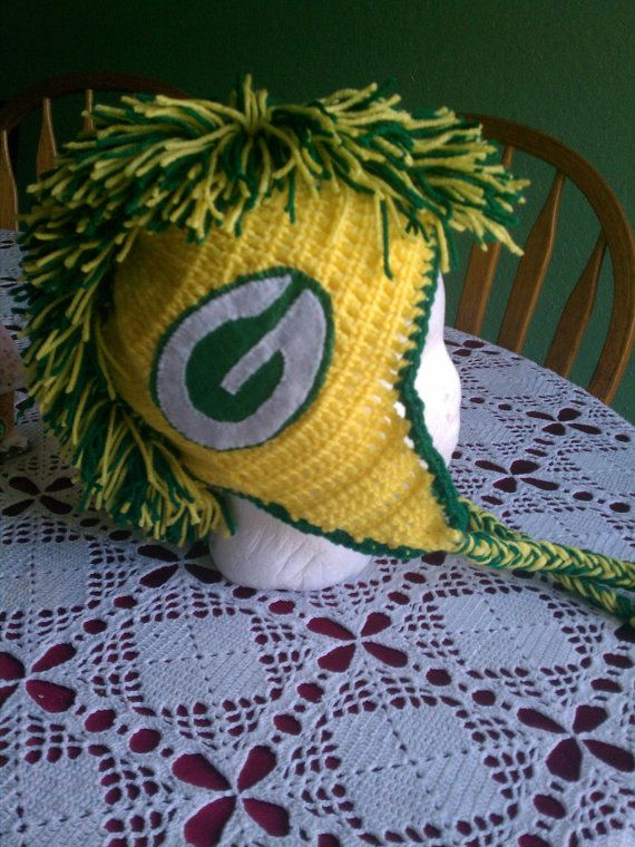Green bay Packers Hat with Mohawk Handmade by TheCreativityStore ...
