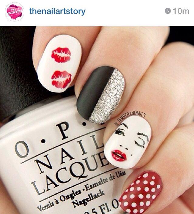 Cute nail designs. Marilyn Monroe nails   Nails gone wild ...