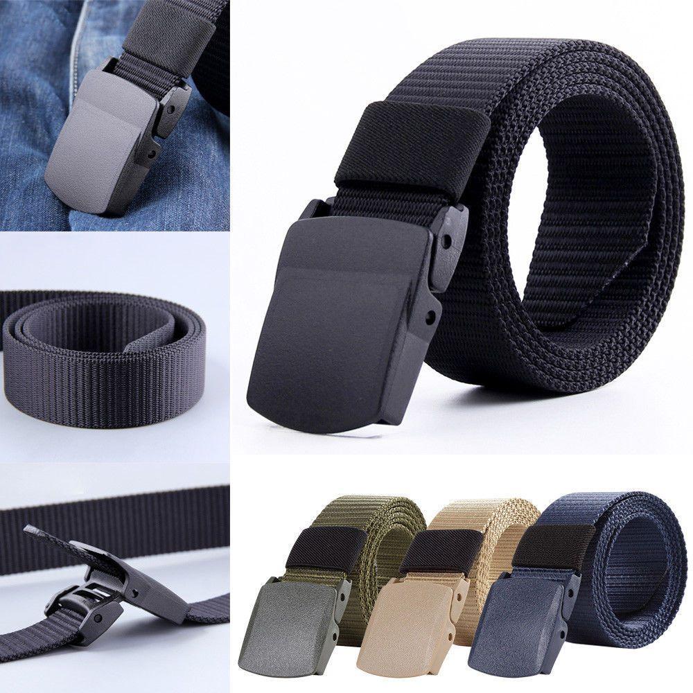 Casual Military Grade Polymer Automatic Buckle Nylon Belt Nylon Belt Male MAN IS