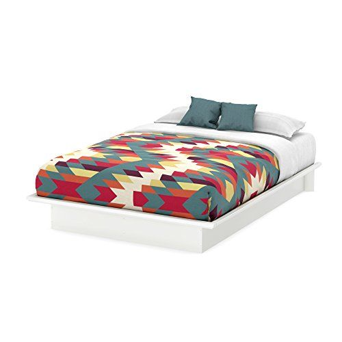 South Shore Furniture, Basic Collection, Queen Platform Bed with ...