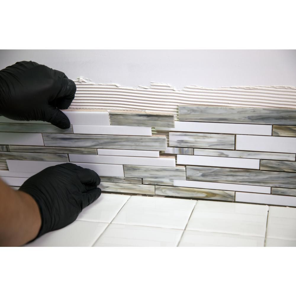 Custom Building Products Acrylpro 3 1 2 Gal Ceramic Tile Adhesive Arl40003 The Home Depot Adhesive Tiles Ceramic Tiles Stone Mosaic Tile