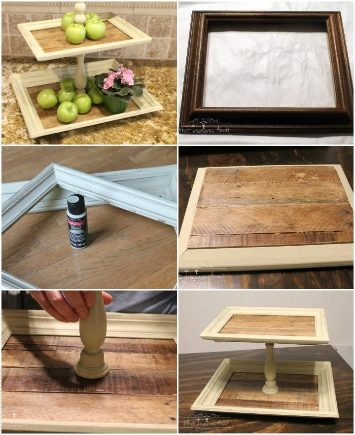 Handmade Thrift Store Frame Tiered Trays
