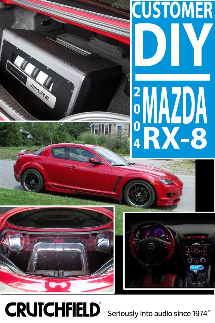 joshua did a serious audio upgrade in his 2004 mazda rx-8 with gear from  crutchfield