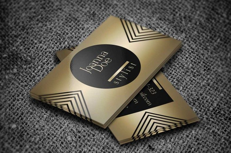 stylish gold fashion stylist business card template this design