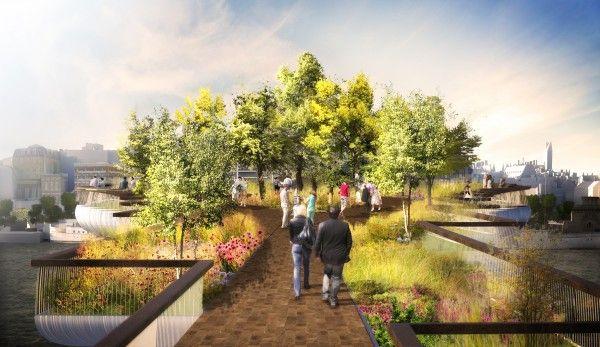 Thomas Heatherwick Designs Garden Bridge Over The Thames Garden Bridge Design Garden Bridge London Garden Bridge