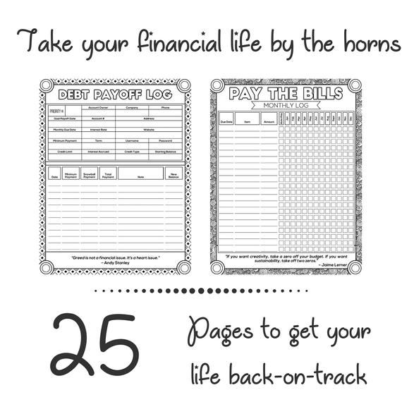 Budget Planner Book, Budgeting Printable Coloring Template