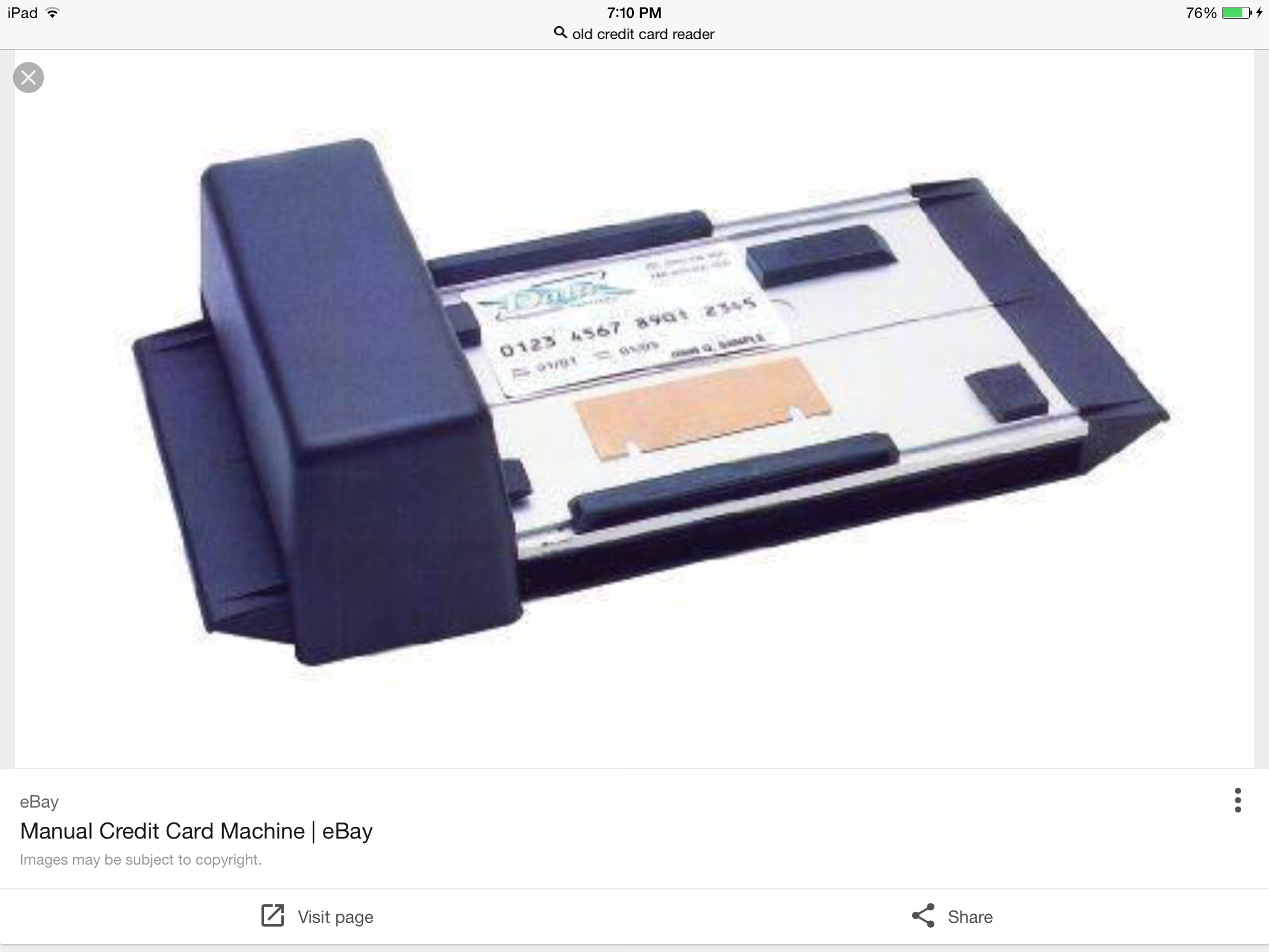 Old Credit Card Machine