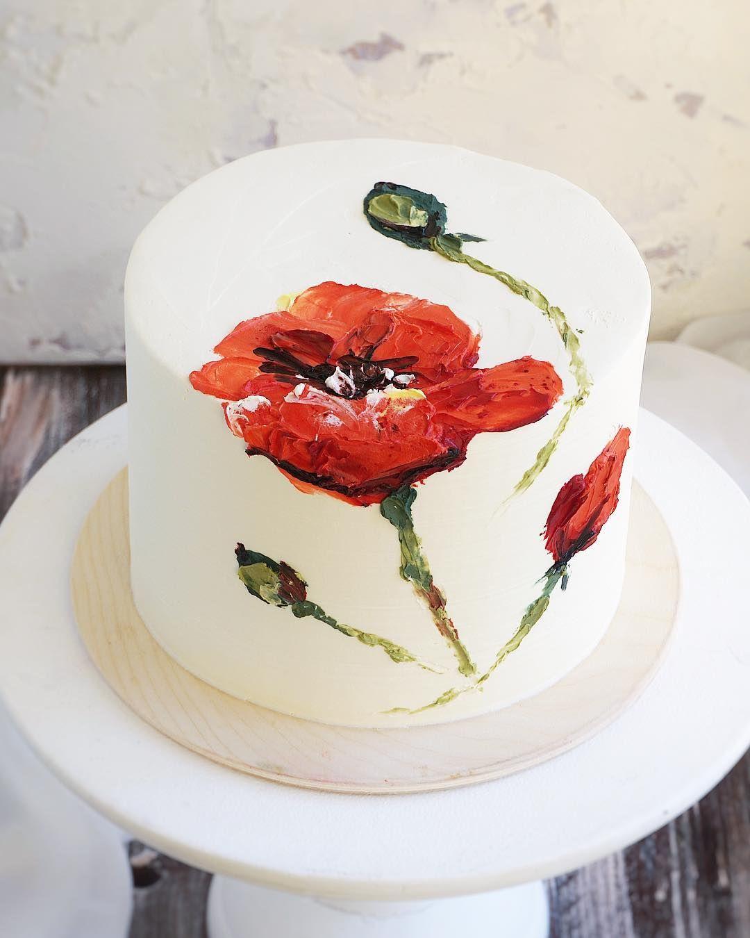 Торт с маками картинка