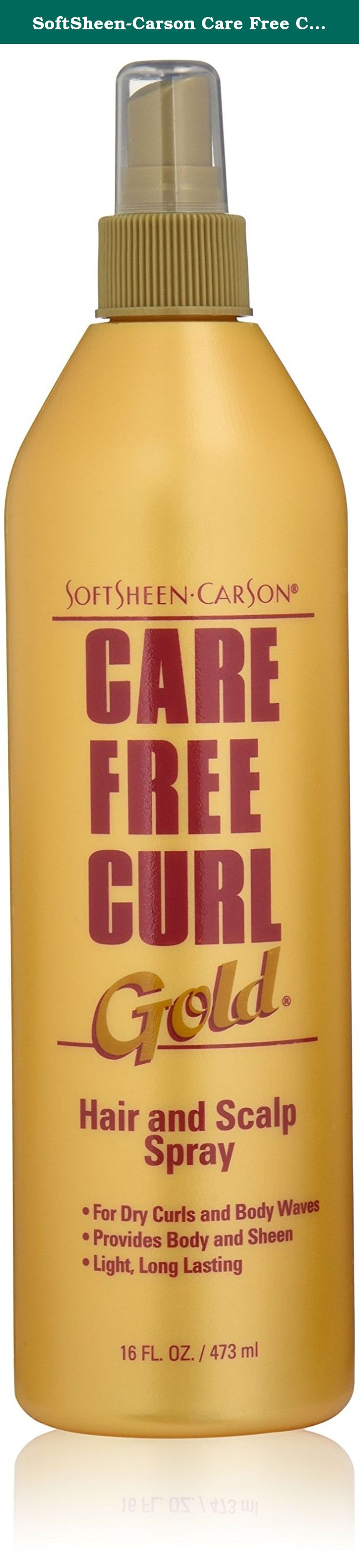 SoftSheenCarson Care Free Curl Gold Hair and Scalp Spray