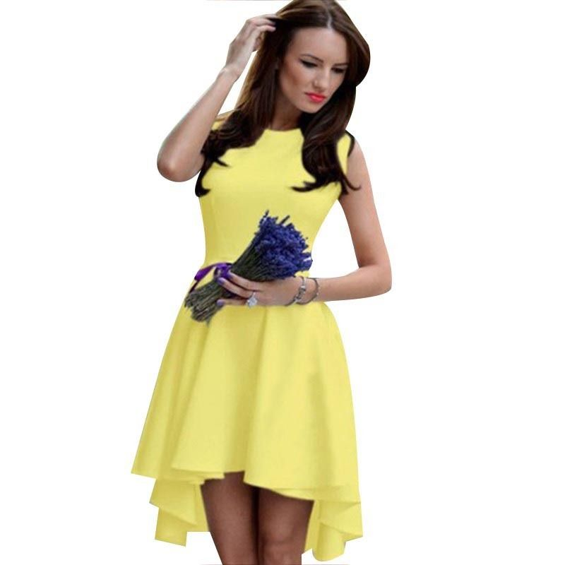 42dc7dc7848 Pas cher Robes d été 2016 nouvel an mode femmes robe vêtements pour femmes  sans manches O cou robe automne femmes de Vêtements