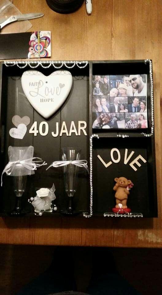 Uitzonderlijk 40 jarig huwelijk pa en ma | Huwelijk - Gifts #RK07
