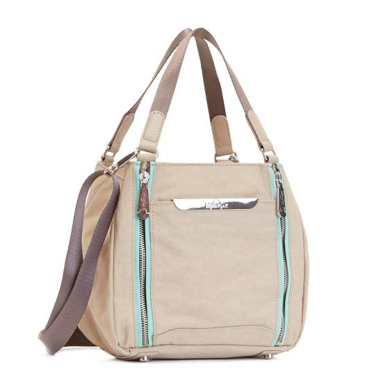 f49d6af9df Stacie Handbag - Sand Castle Seafoam Green Combo | We added some extra  polish to our classic crinkle nylon with a couple of gleaming exposed zips  and soft ...