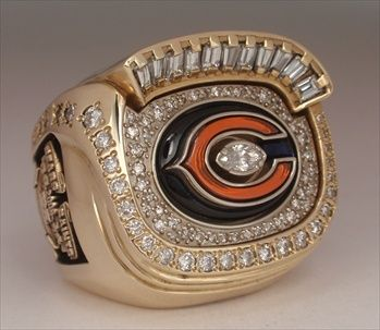 2006 Chicago Bears Super Bowl Xli N F C Champions 10k Gold Diamond Player S Ring Chicago Bears Super Bowl Super Bowl Rings Chicago Bears