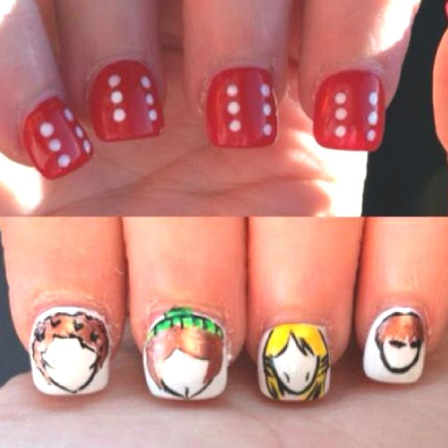My daughter's Monkees nails!