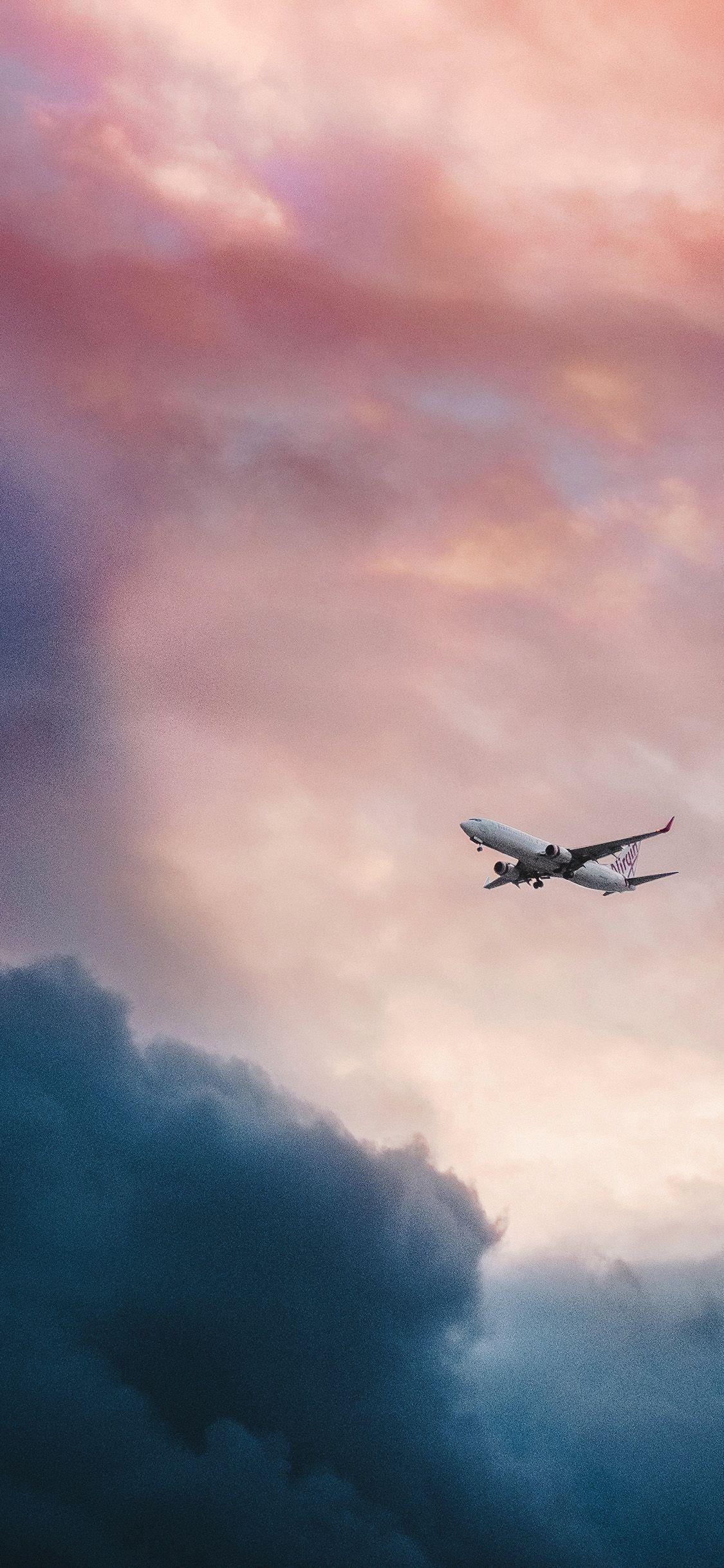 nv09cloudplaneflyskynature via http//iPhoneXpapers