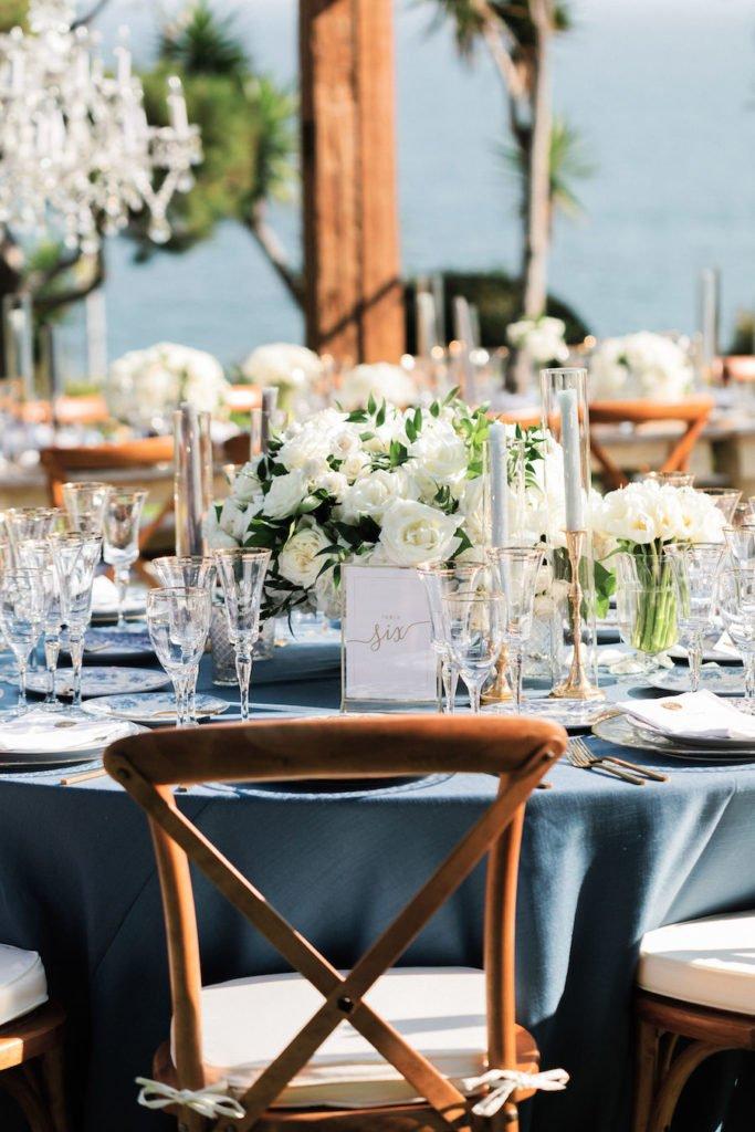 Luxurious Gulls Way Reception In 2020 Wedding Reception Southern California Wedding Southern California Blue Themed Wedding