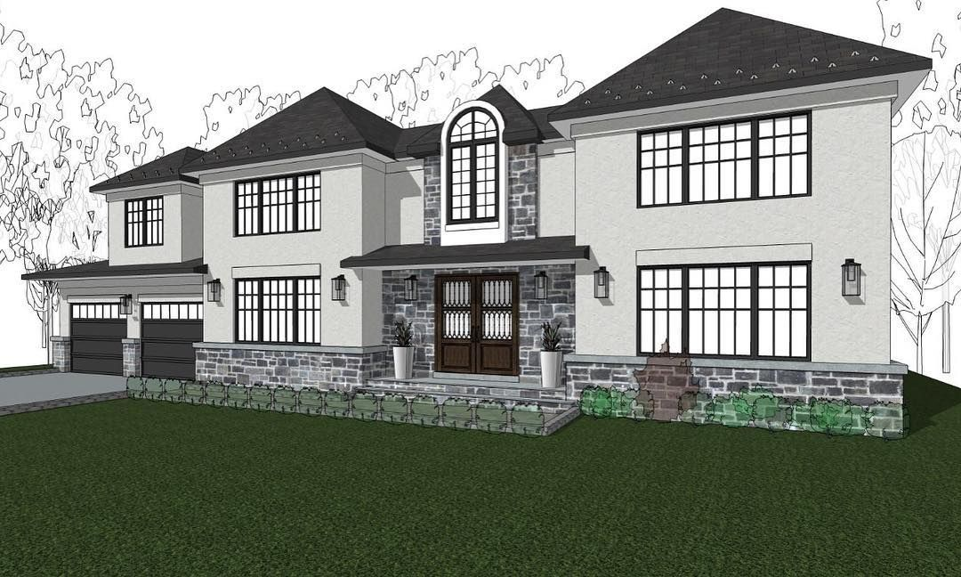 A Brand New Contemporary Spec Home We Are Designing In Paramus Nj Inquire If You Would Like To Know More About This H Hamptons House House Styles Architecture