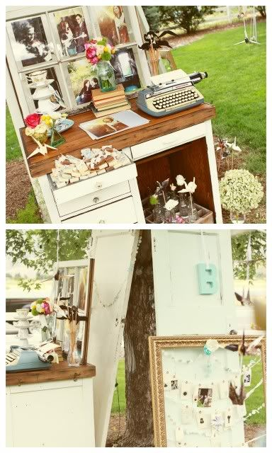 I so wish I had used a vintage typewriter as my wedding guest book! Stinkin cool!