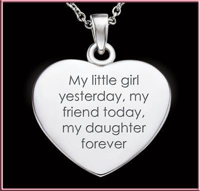 My Daughter Forever Dozen Rubies Pendant - front