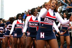 Howard University Cheerleaders With Images Cheerleading Howard University College Cheerleading