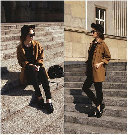 More looks by Patricia  S.: http://lb.nu/pashioon  #classic #minimal #street #polsihgirl #streetlook #black #blacklove #skinnyjeans #zara