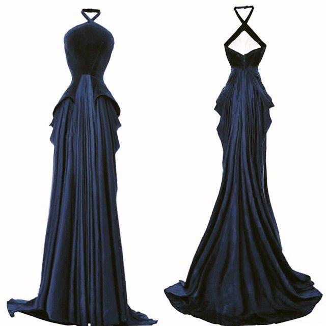 #ZacPosen #Gown #fw15 velvet and silk baby jersey.