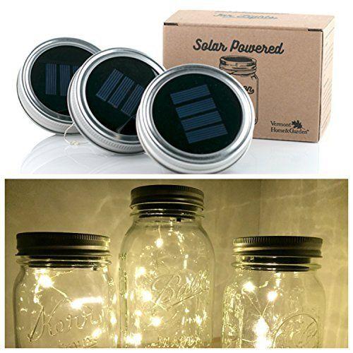 3 Pack Solar Mason Jar Lid Insert Led Mason Jar Solar Light For Glass Mason Jars And Garden Decor Solar Solar Mason Jars Mason Jar Solar Lights Mason Jars