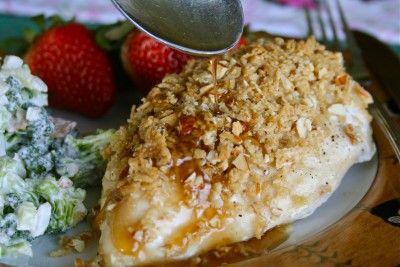 crunchy almond maple chicken